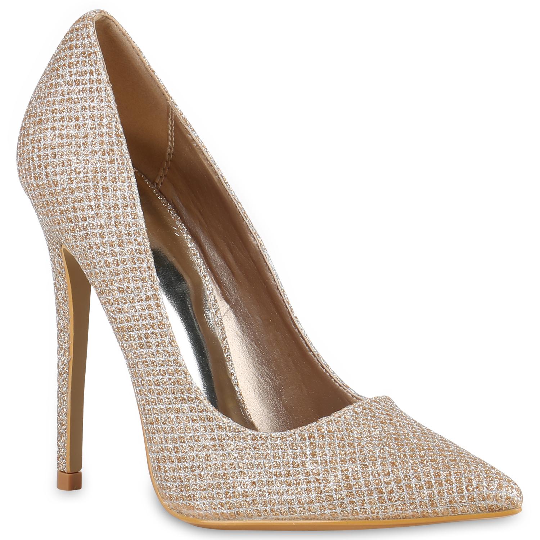 glitzer high heels damen party pumps stilettos abend. Black Bedroom Furniture Sets. Home Design Ideas