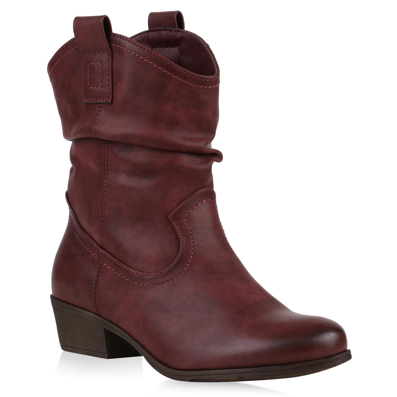 damen cowboy boots lederoptik stiefeletten blockabsatz stiefel 79785 ebay. Black Bedroom Furniture Sets. Home Design Ideas