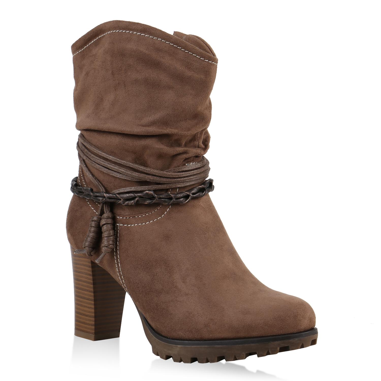 cowboy boots damen western stiefeletten holzoptik absatz 812567 new look ebay. Black Bedroom Furniture Sets. Home Design Ideas