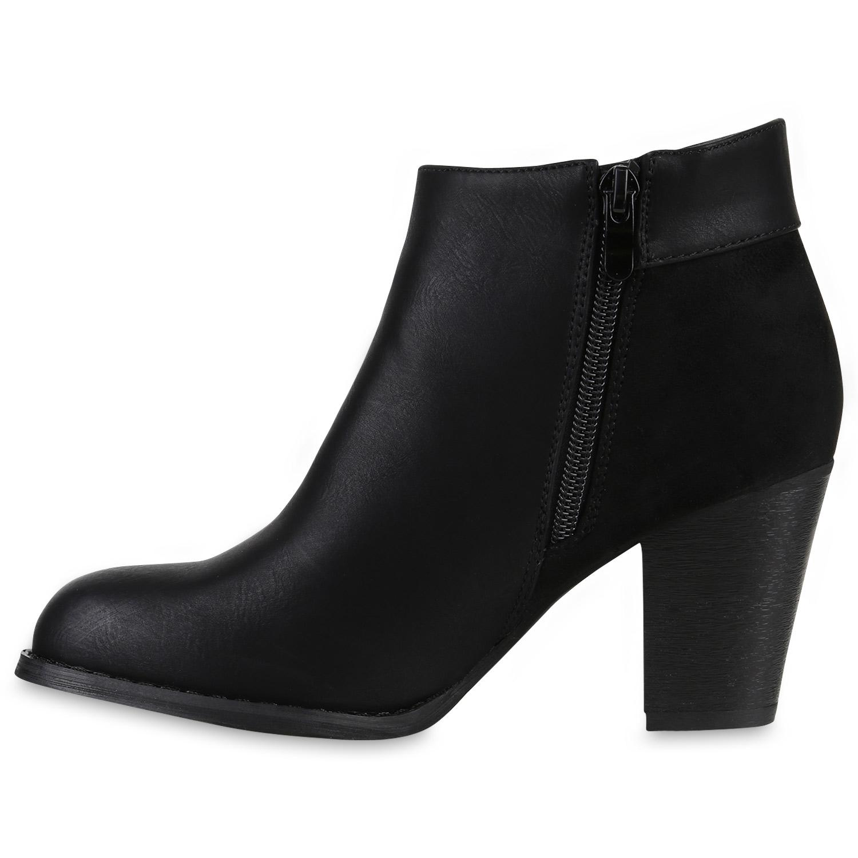 damen ankle boots quasten holzoptik absatz stiefeletten 812599. Black Bedroom Furniture Sets. Home Design Ideas