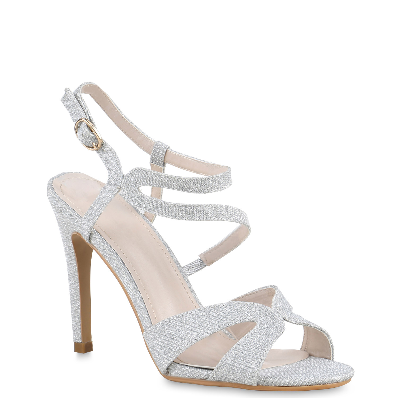 damen high heels glitzer stilettos sandaletten ballschuhe 812663 top ebay. Black Bedroom Furniture Sets. Home Design Ideas