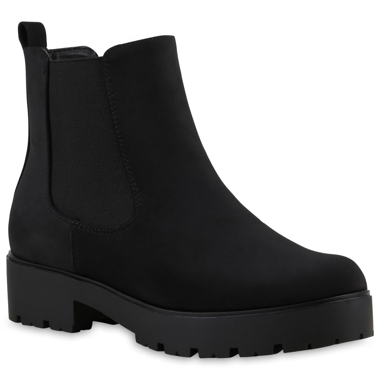 chelsea boots damen plateau stiefeletten profil sohle. Black Bedroom Furniture Sets. Home Design Ideas