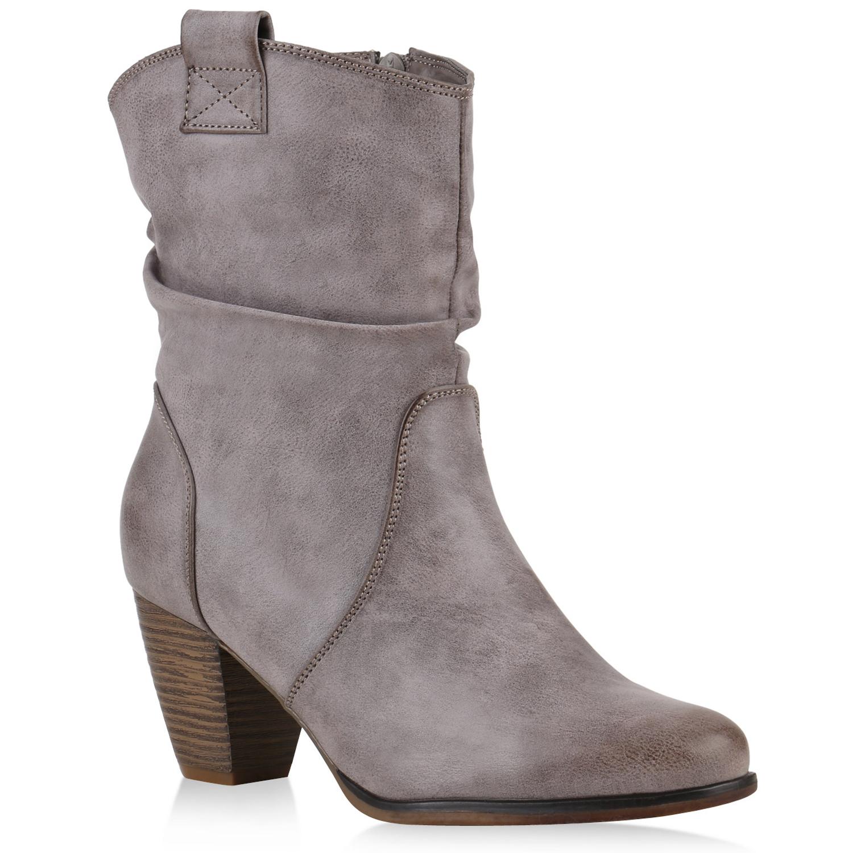 damen stiefeletten gef tterte weitschaft boots schuhe stiefel 77249 ebay. Black Bedroom Furniture Sets. Home Design Ideas