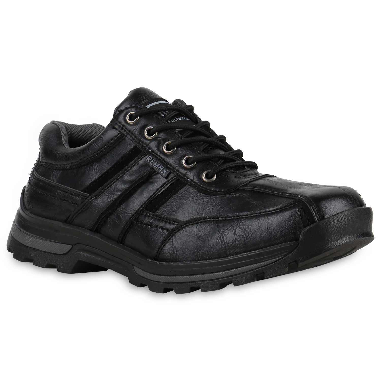 Herren-Outdoor-Schuhe-Trekking-Halbschuhe-Profilsohle-Sportlich-812916-Trendy