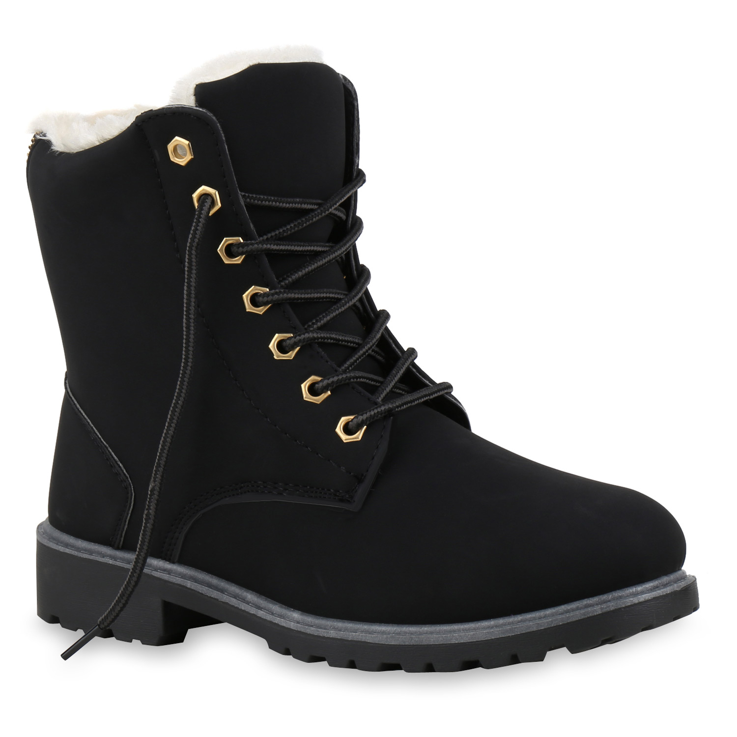 worker boots damen herren outdoor stiefeletten zipper warm gef ttert 812923 ebay. Black Bedroom Furniture Sets. Home Design Ideas