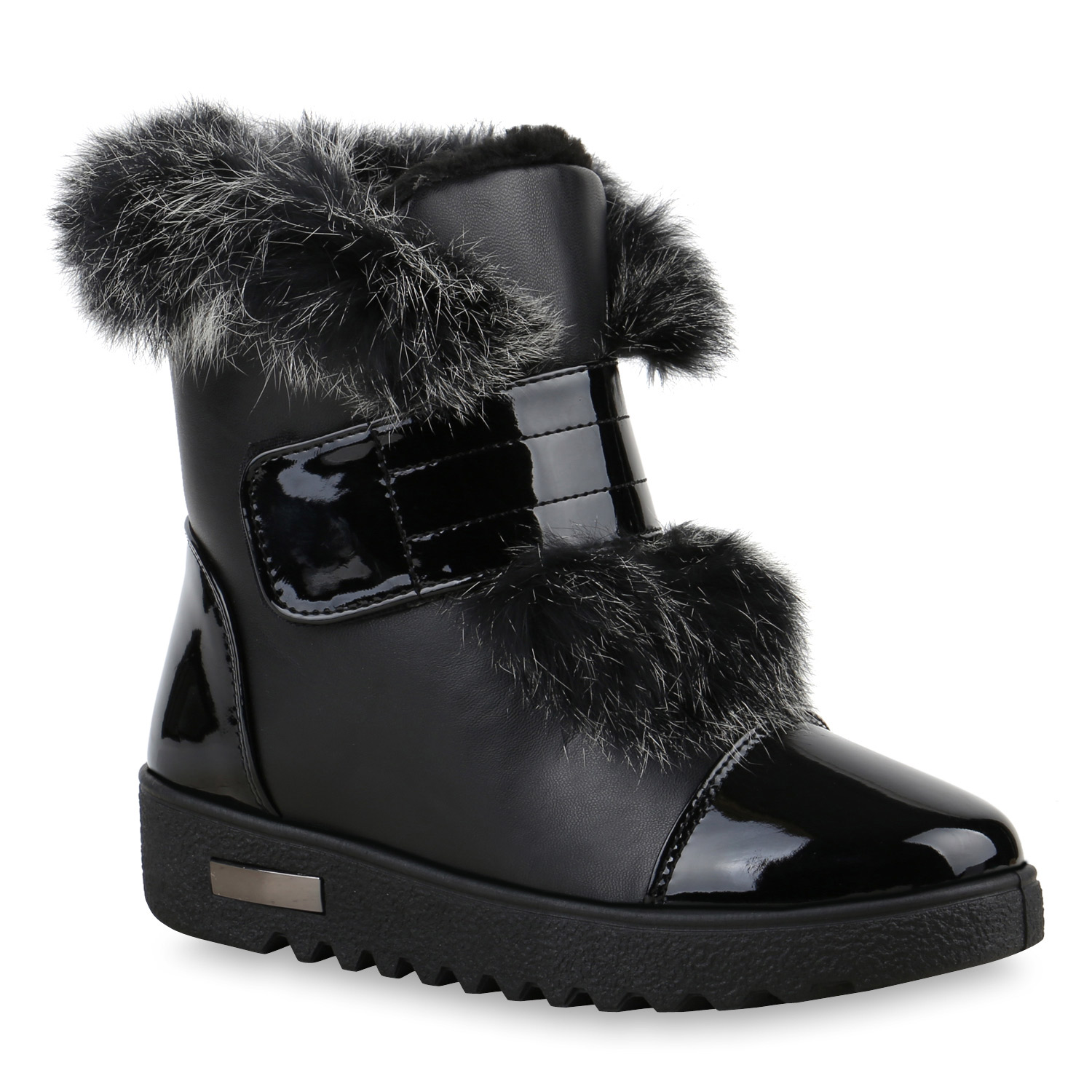 winterboots damen stiefeletten fell keil absatz warm. Black Bedroom Furniture Sets. Home Design Ideas