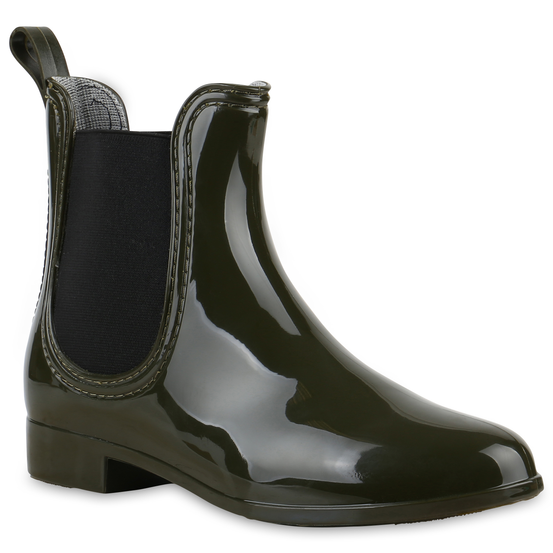 damen gummistiefel lack stiefeletten chelsea boots. Black Bedroom Furniture Sets. Home Design Ideas