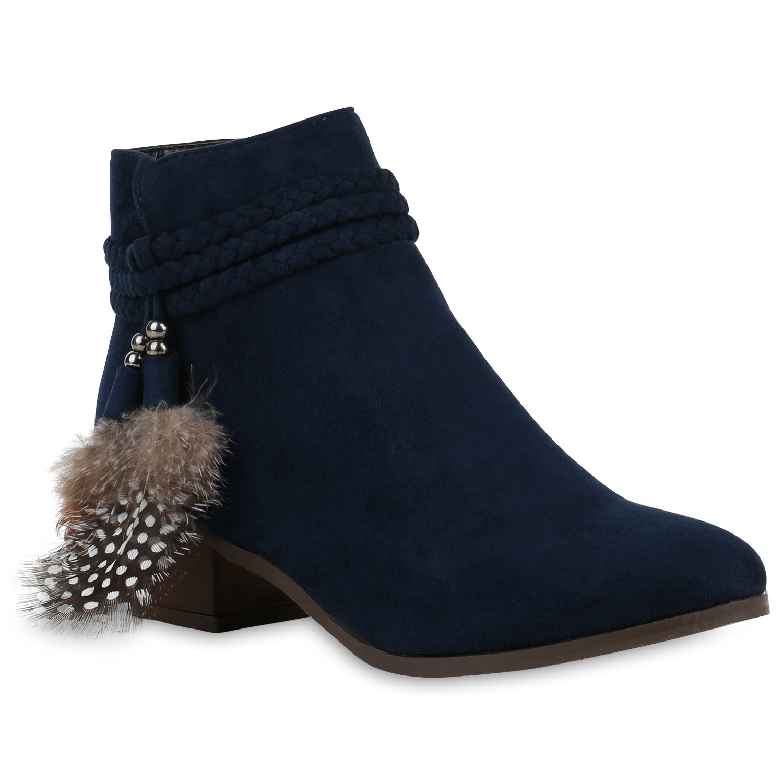 ankle boots damen stiefeletten federn perlen indianer. Black Bedroom Furniture Sets. Home Design Ideas