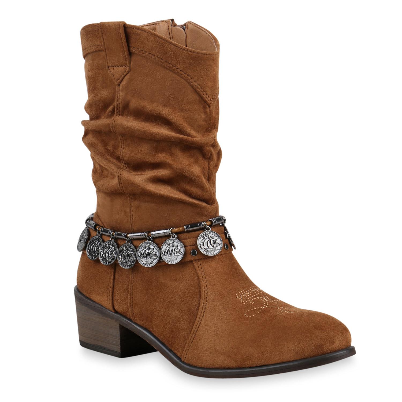 damen stiefeletten ethno cowboy boots ketten stiefel 813289 new look. Black Bedroom Furniture Sets. Home Design Ideas