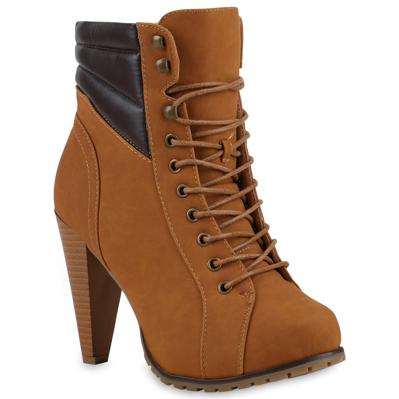 damen stiefeletten schn rboots plateau high heels warm. Black Bedroom Furniture Sets. Home Design Ideas