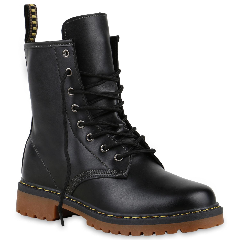 geschn rte herren damen worker boots camouflage army look schuhe 813636 ebay. Black Bedroom Furniture Sets. Home Design Ideas