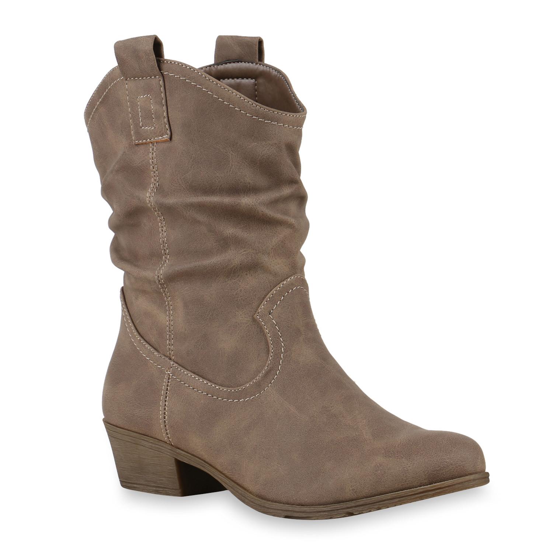bequeme damen stiefeletten cowboy boots western schuhe. Black Bedroom Furniture Sets. Home Design Ideas
