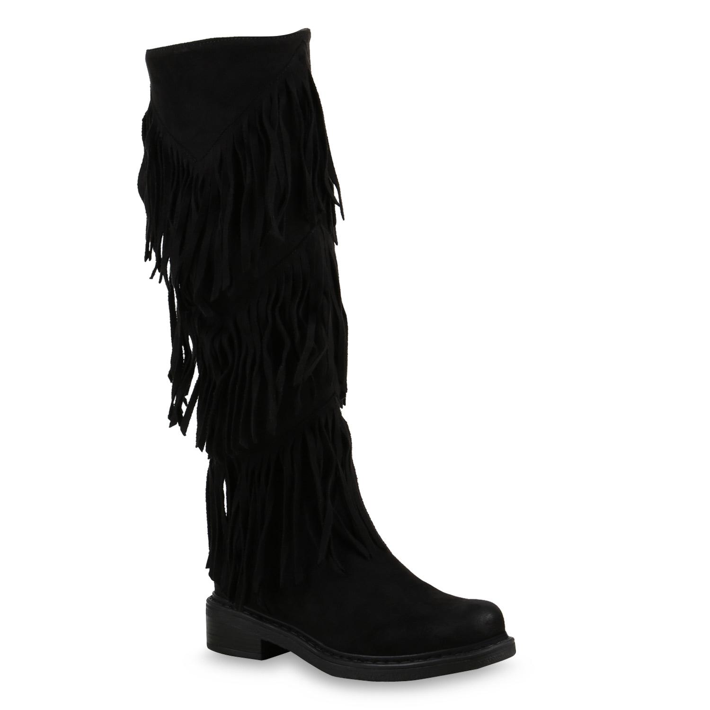 flache damen stiefel mukluks ethno boots fransen schuhe. Black Bedroom Furniture Sets. Home Design Ideas