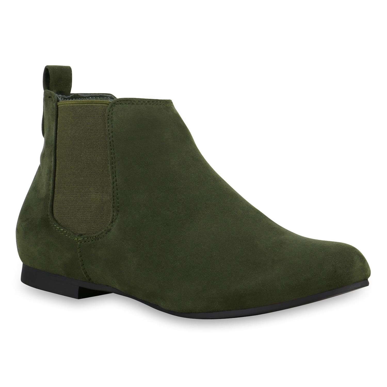 damen chelsea boots lederoptik stiefeletten modisch 812513. Black Bedroom Furniture Sets. Home Design Ideas