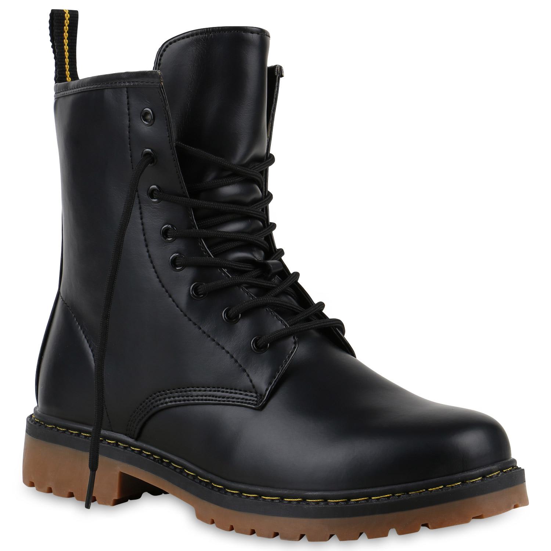 geschn rte herren damen worker boots camouflage army look schuhe 813636 trendy. Black Bedroom Furniture Sets. Home Design Ideas