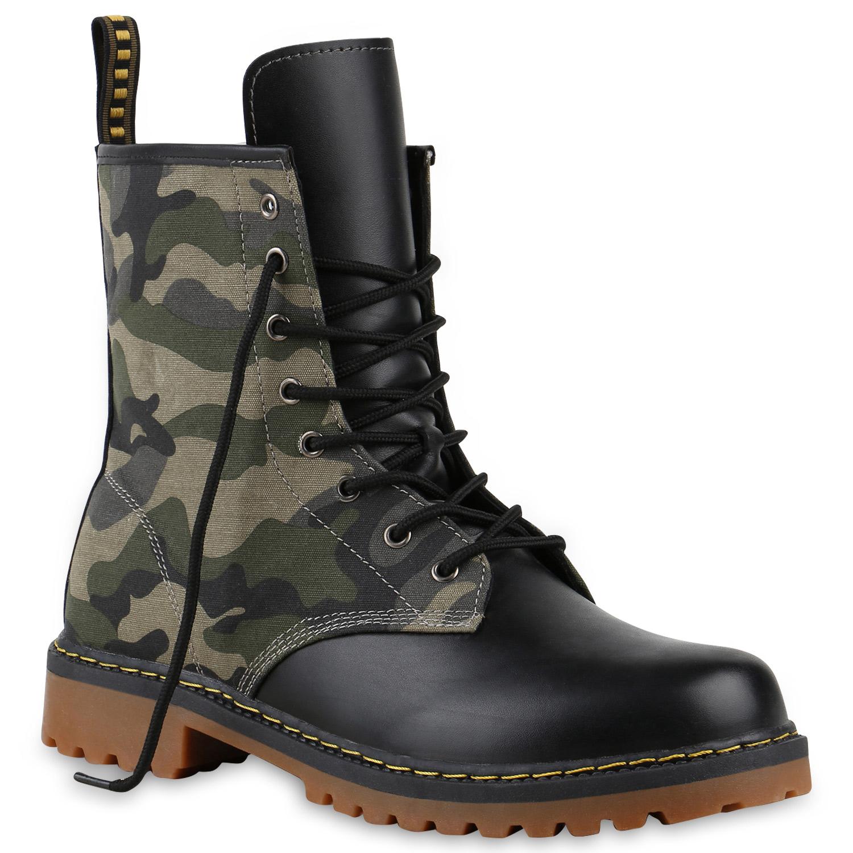 geschn rte herren damen worker boots camouflage army look. Black Bedroom Furniture Sets. Home Design Ideas