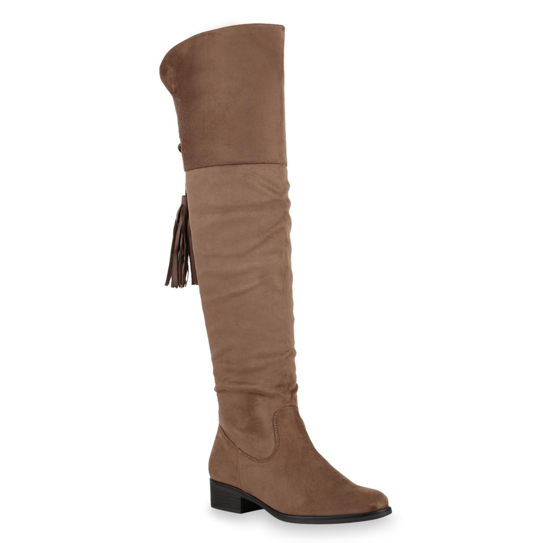 damen stiefel overknees flache boots weitschaftstiefel. Black Bedroom Furniture Sets. Home Design Ideas