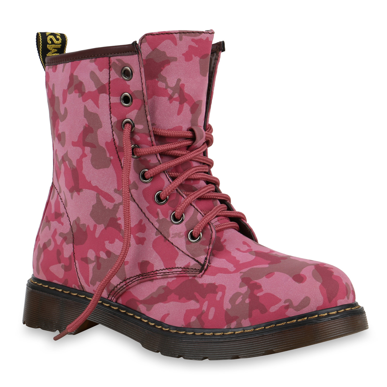 damen stiefeletten worker boots prints schn rstiefel blumen 813891 new look ebay. Black Bedroom Furniture Sets. Home Design Ideas