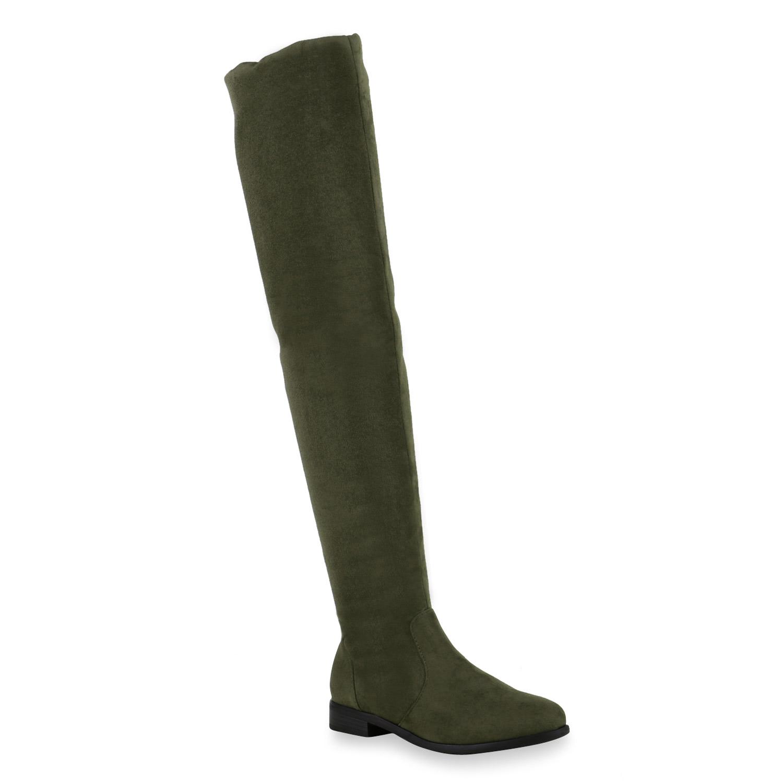 flache damen stiefel overknees bequeme langschaft boots. Black Bedroom Furniture Sets. Home Design Ideas
