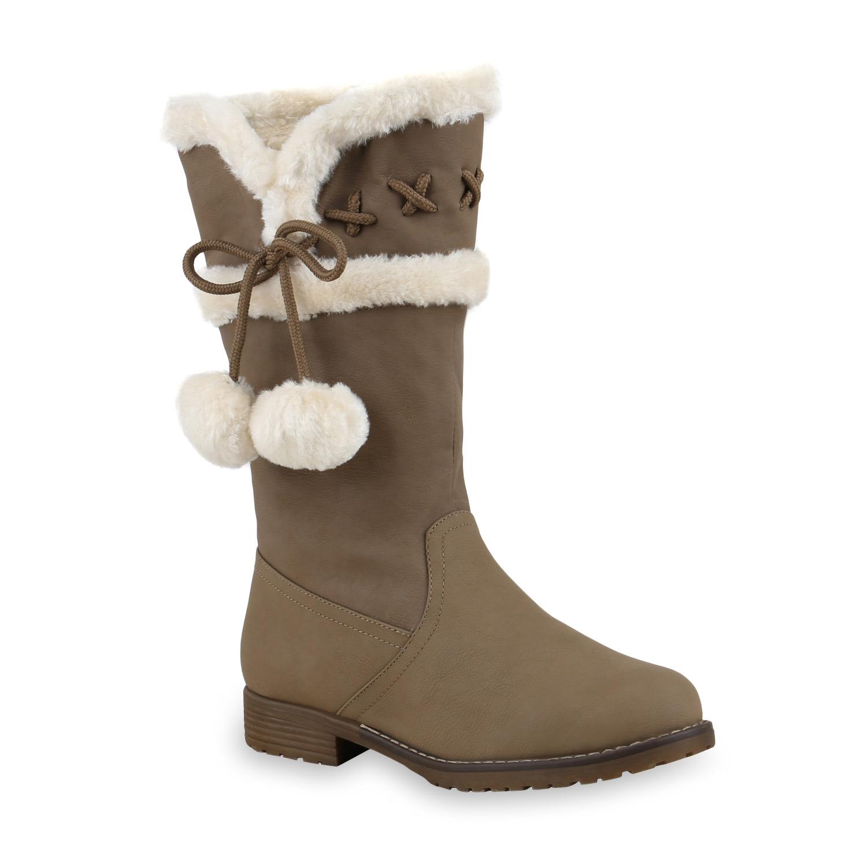 warm gef tterte damen stiefel kunstfell winterstiefel boots 813909 ebay. Black Bedroom Furniture Sets. Home Design Ideas