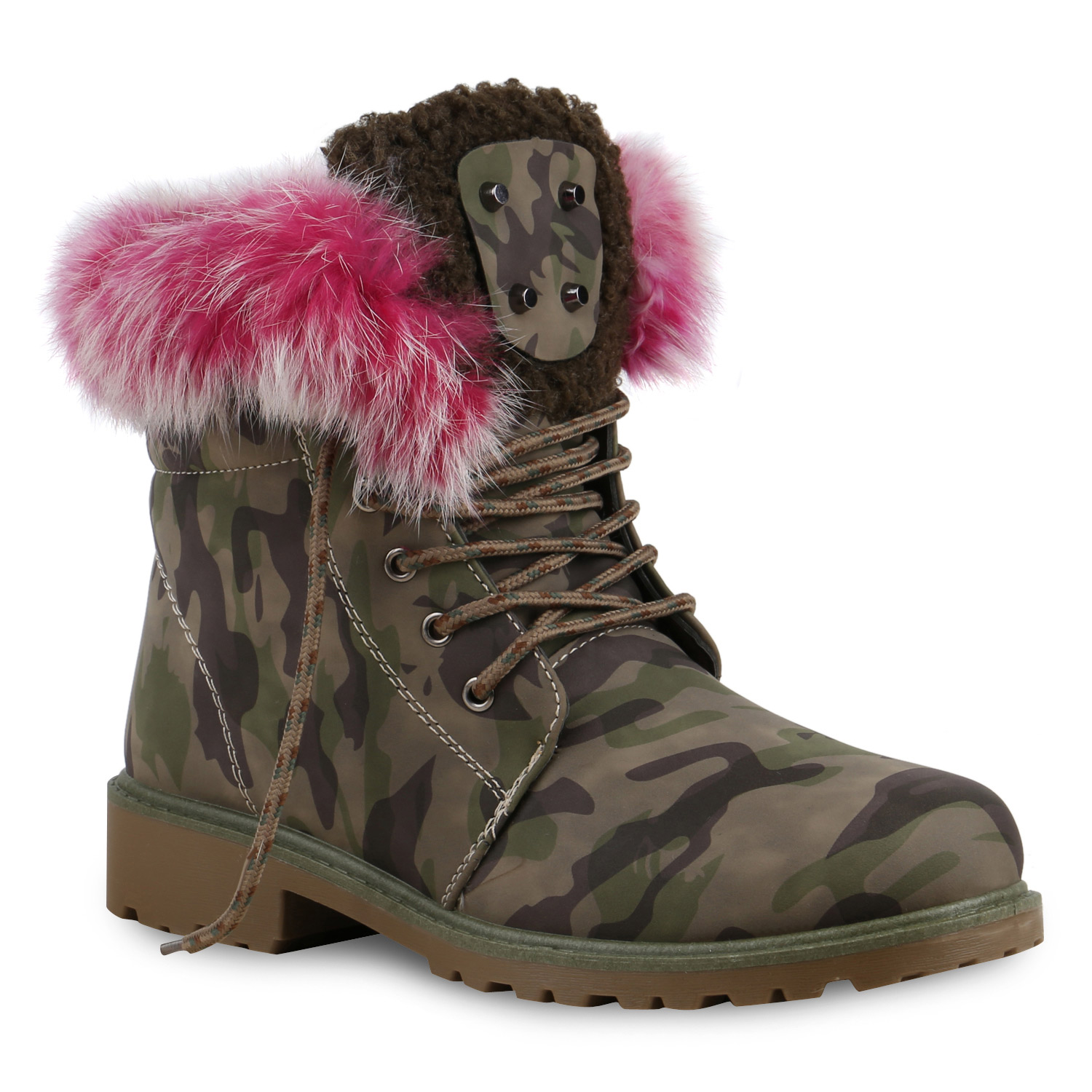 warm gef tterte damen stiefeletten fell outdoor boots winterschuhe 813823 ebay. Black Bedroom Furniture Sets. Home Design Ideas
