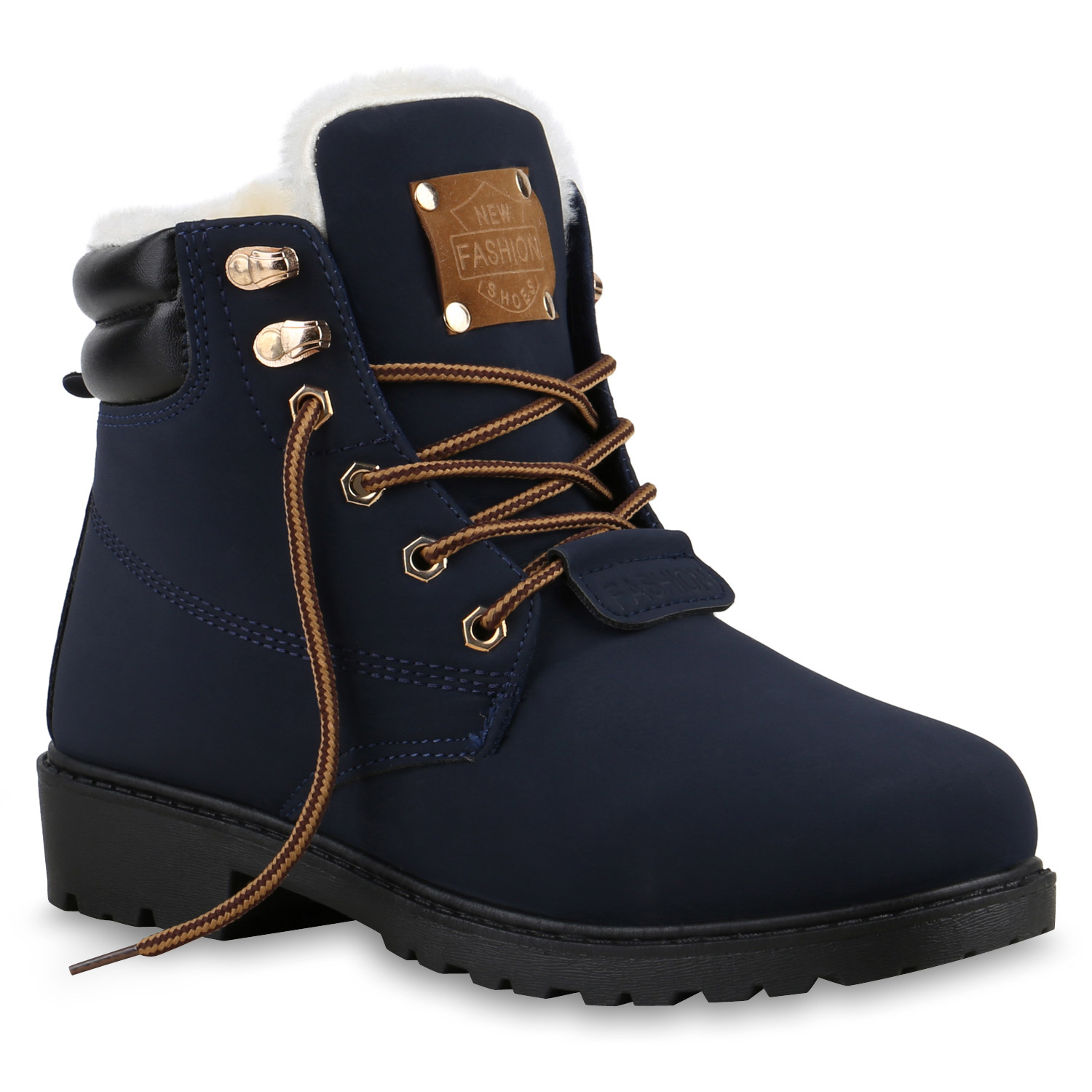 warm gef tterte damen stiefeletten winterschuhe outdoor boots 814076 ebay. Black Bedroom Furniture Sets. Home Design Ideas
