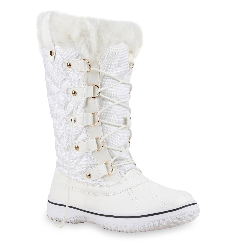 warm gef tterte damen stiefel winterstiefel snow boots. Black Bedroom Furniture Sets. Home Design Ideas