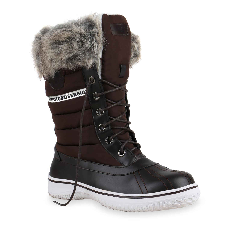 warm gef tterte damen stiefeletten winterboots stiefel. Black Bedroom Furniture Sets. Home Design Ideas