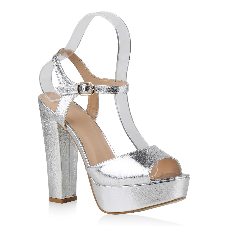 damen party sandaletten plateau high heels glitzer schuhe. Black Bedroom Furniture Sets. Home Design Ideas