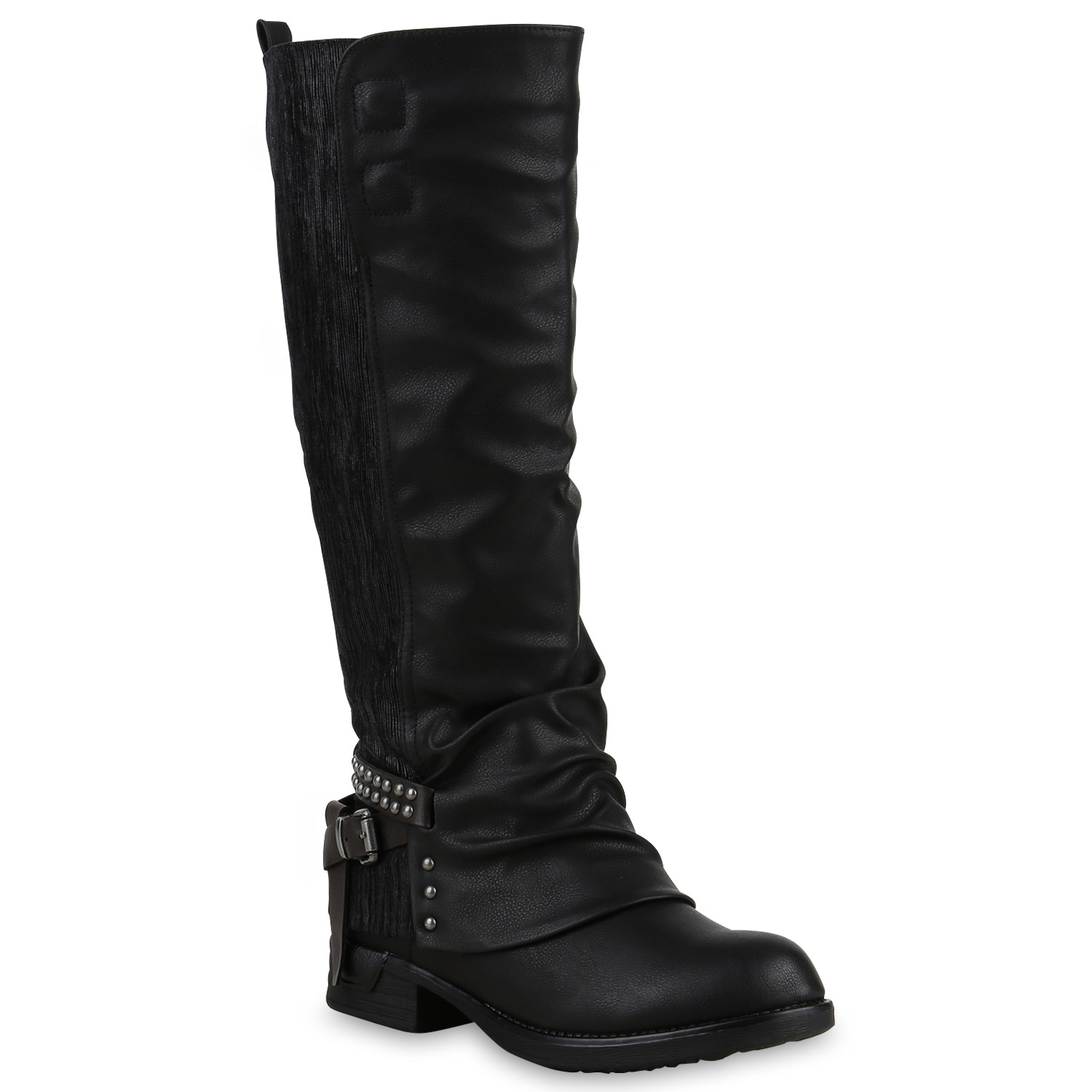 gef tterte damen stiefel biker boots bikerstiefel. Black Bedroom Furniture Sets. Home Design Ideas