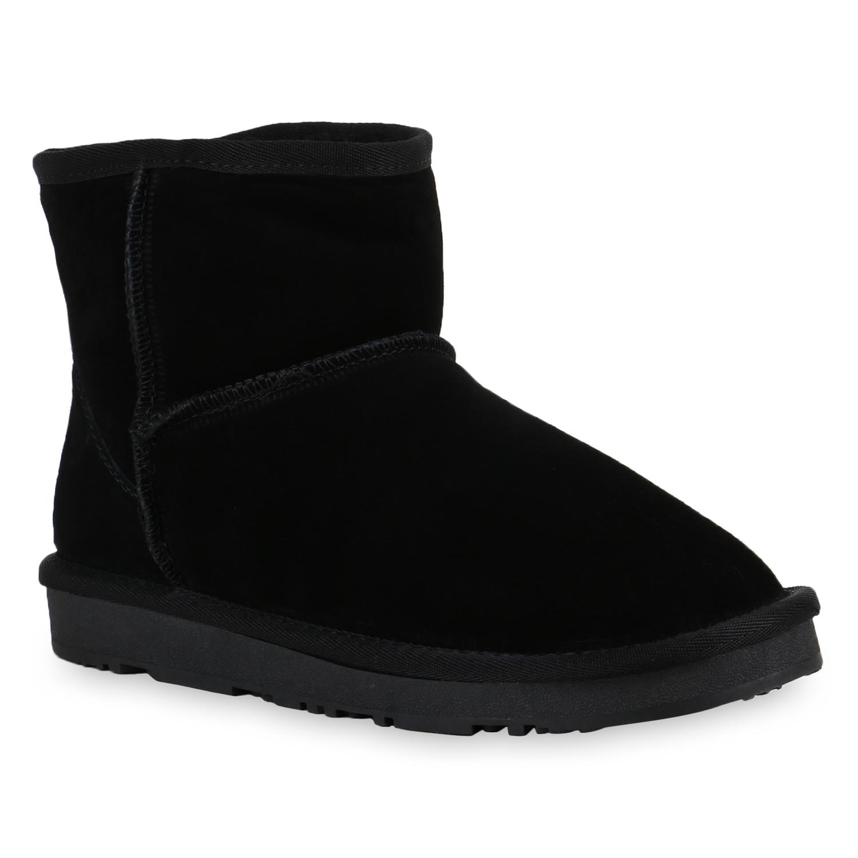 damen winterboots leder stiefeletten stiefel warm gef ttert 812743 top ebay. Black Bedroom Furniture Sets. Home Design Ideas