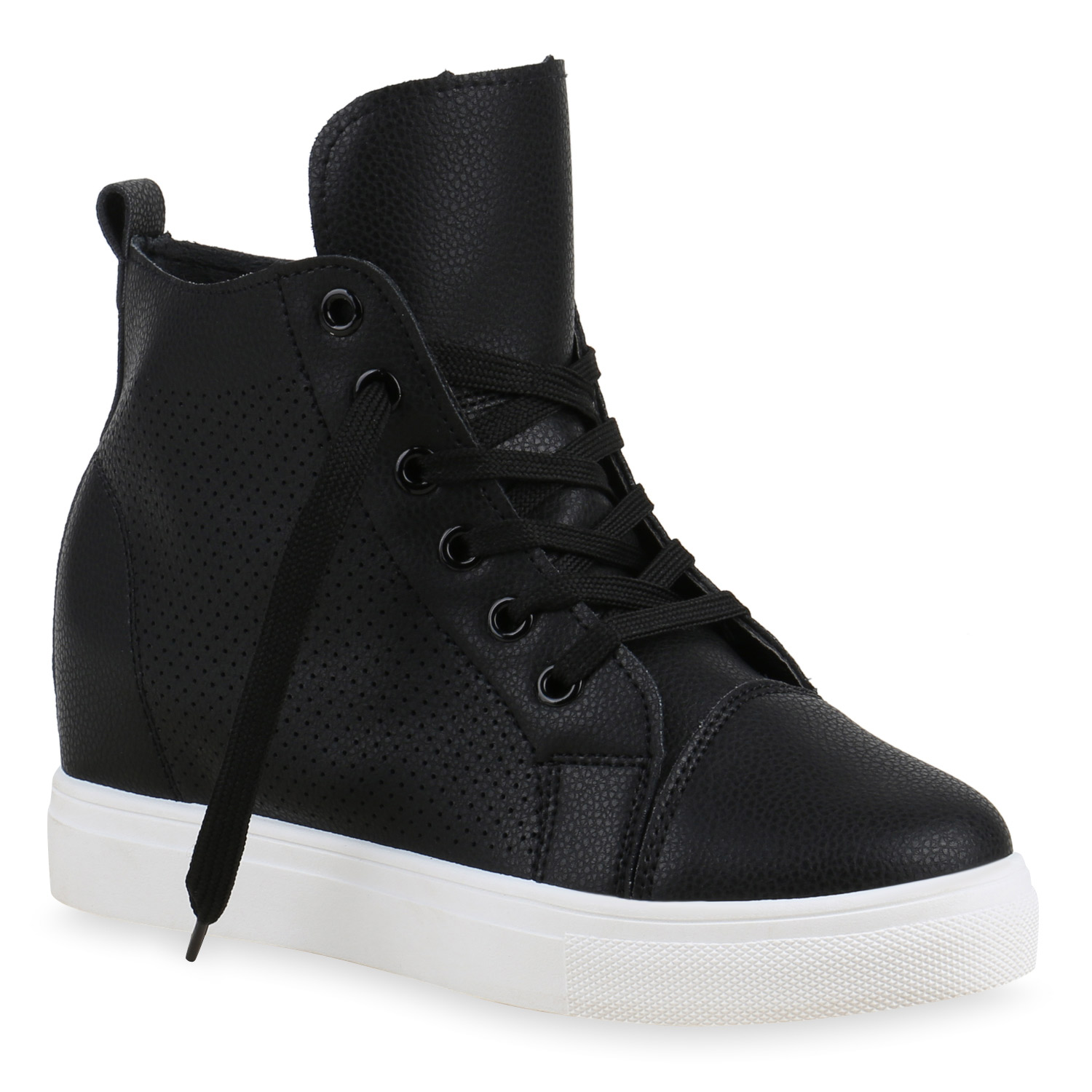 damen high top sneakers sneaker wedges keilabsatz schuhe. Black Bedroom Furniture Sets. Home Design Ideas