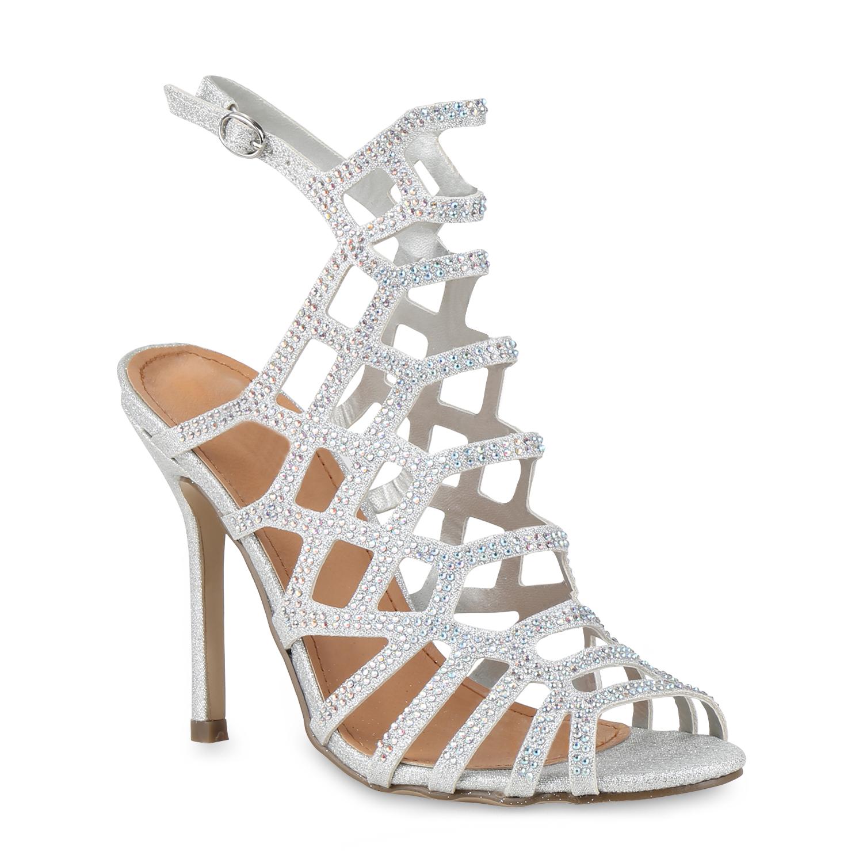 high heels damen strass sandaletten glitzer stilettos. Black Bedroom Furniture Sets. Home Design Ideas