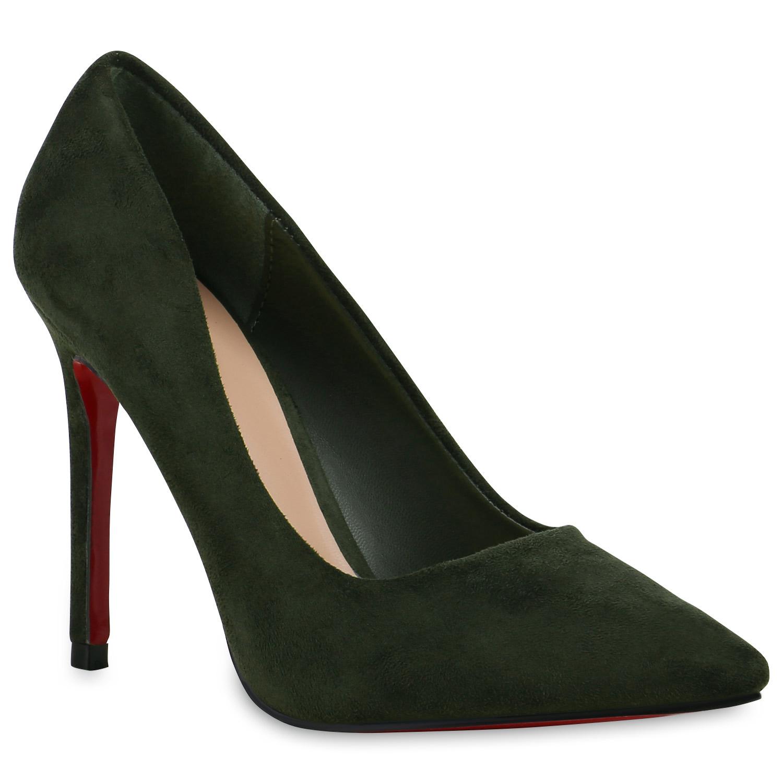 elegante damen pumps high heels stilettos rote sohle schuhe 814393. Black Bedroom Furniture Sets. Home Design Ideas