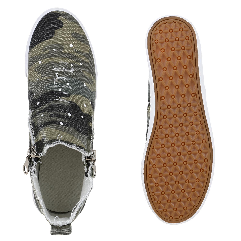top damen schuhe 129834 sneakers camouflage 40 neues modell ebay. Black Bedroom Furniture Sets. Home Design Ideas