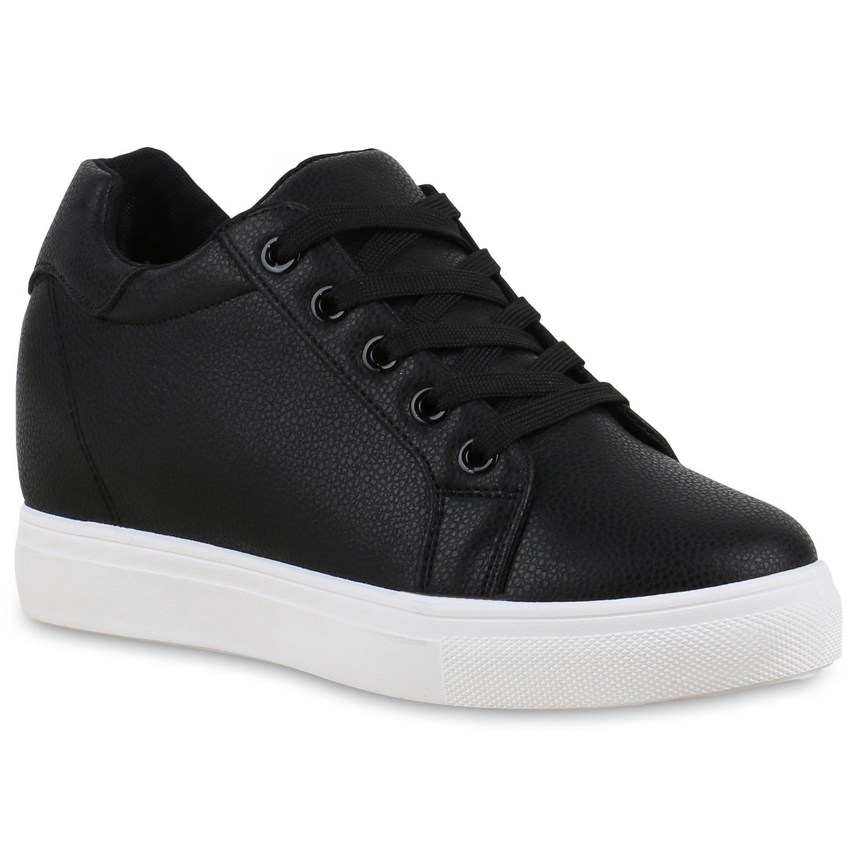 sneaker wedges damen keil absatz turnschuhe 90 39 s look freizeit 814466 ebay. Black Bedroom Furniture Sets. Home Design Ideas