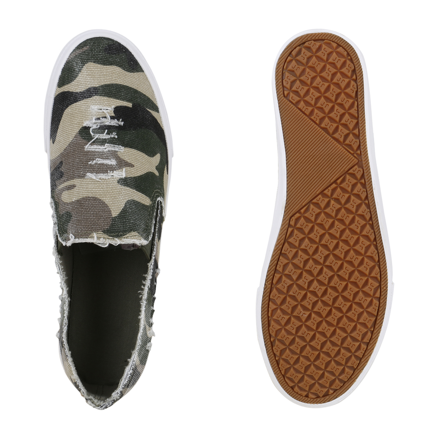 top damen schuhe 130489 sneakers camouflage creme 39 neues modell ebay. Black Bedroom Furniture Sets. Home Design Ideas