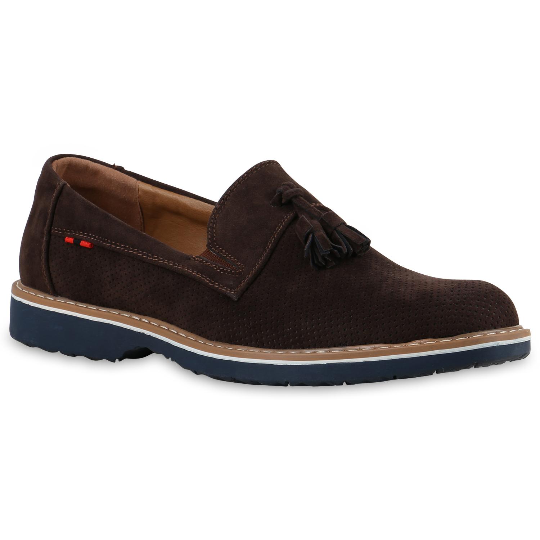 Klassische Herren Slipper Velours Quasten Tassel Loafers Schuhe 814530 Trendy