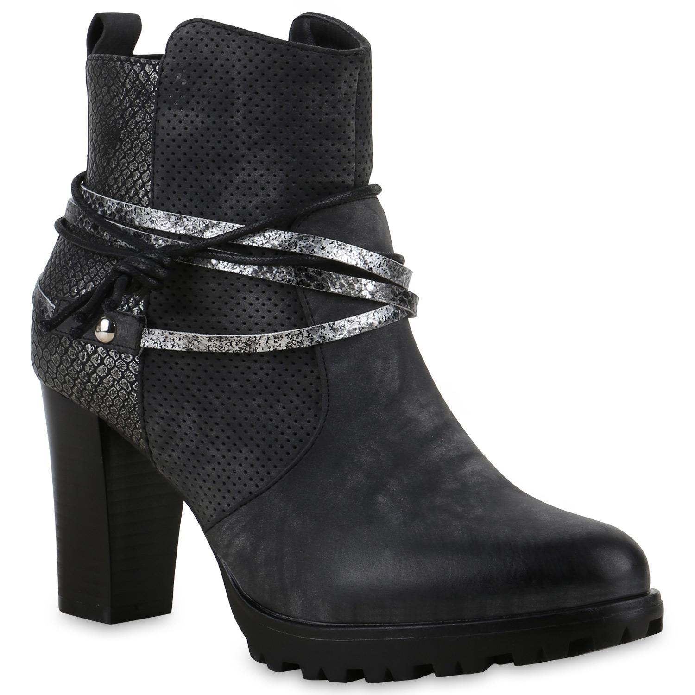 damen stiefeletten biker boots used look prints metallic schuhe 814551 ebay. Black Bedroom Furniture Sets. Home Design Ideas