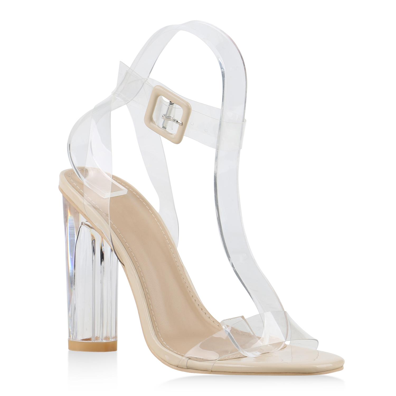 damen sandaletten high heels lack transparenter absatz. Black Bedroom Furniture Sets. Home Design Ideas