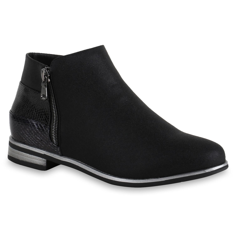 damen stiefeletten flache ankle boots lack metallic schuhe. Black Bedroom Furniture Sets. Home Design Ideas