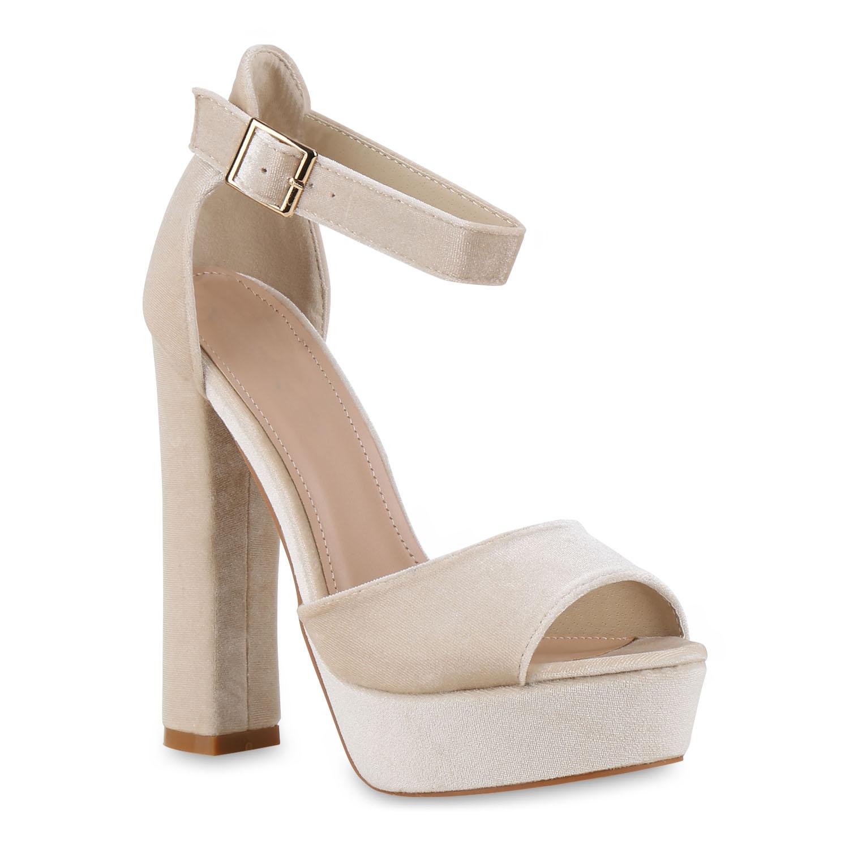 damen plateau sandaletten high heels samt skyheels 814631 ebay. Black Bedroom Furniture Sets. Home Design Ideas