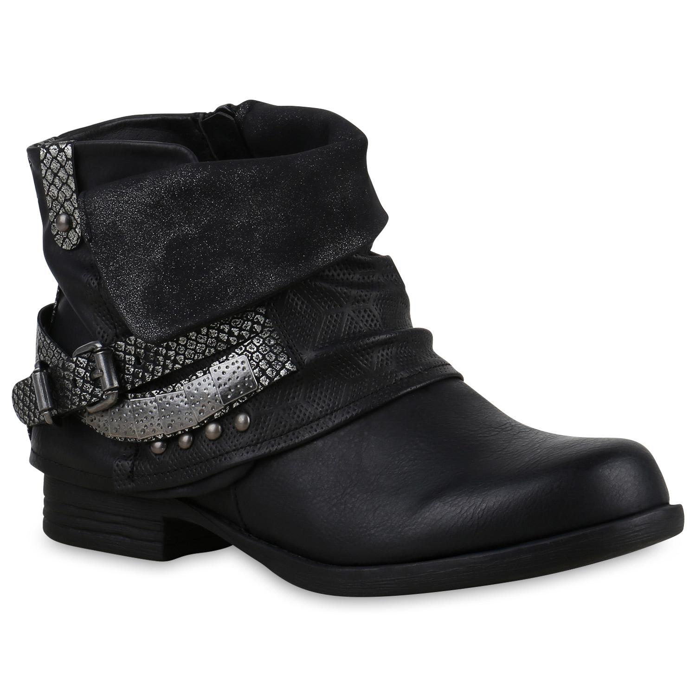 damen glitzer stiefeletten bequeme nieten biker boots 810227 new look ebay. Black Bedroom Furniture Sets. Home Design Ideas