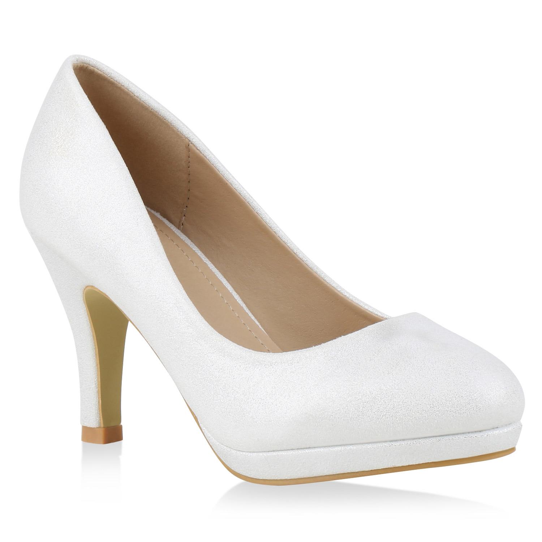 damen pumps glitzer metallic high heels party schuhe 814669. Black Bedroom Furniture Sets. Home Design Ideas