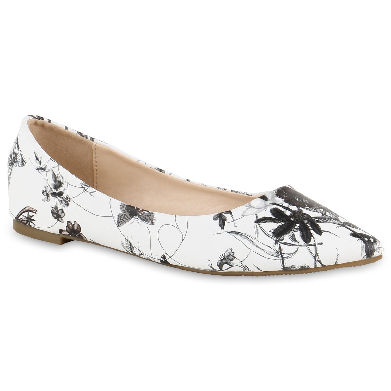 spitze damen ballerinas blumen prints flats slipper schuhe 814778 new look ebay. Black Bedroom Furniture Sets. Home Design Ideas