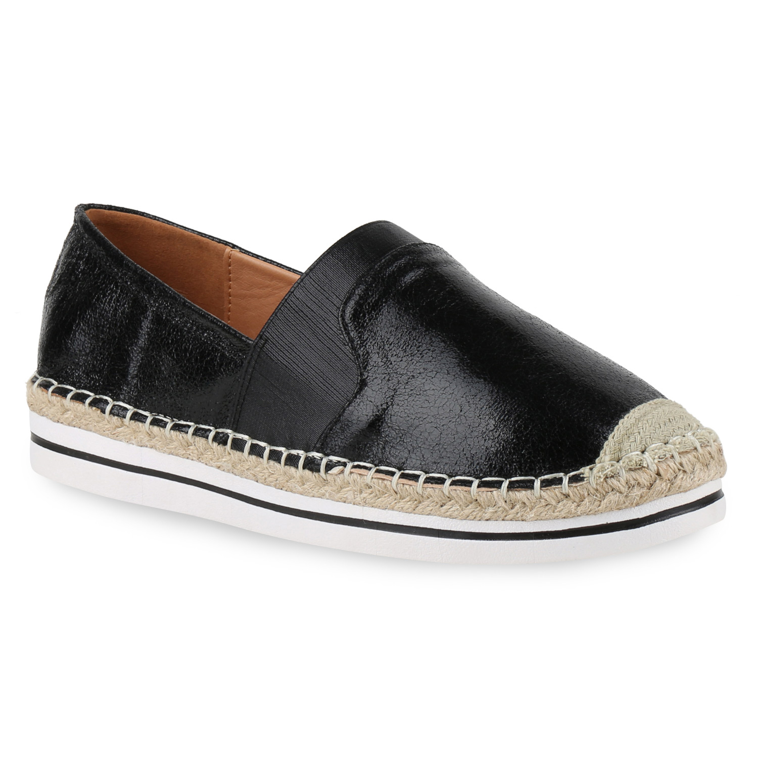 damen slipper slip ons bast espadrilles metallic freizeit schuhe flats 814955 ebay. Black Bedroom Furniture Sets. Home Design Ideas