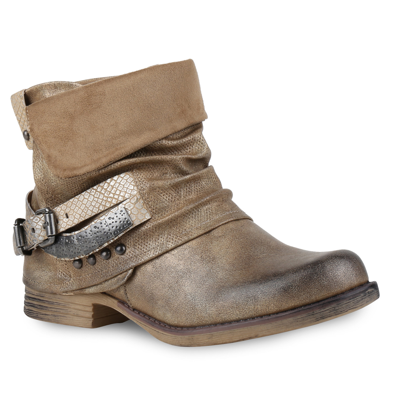 damen biker boots used look metallic stiefeletten nieten schuhe 814957 new look ebay. Black Bedroom Furniture Sets. Home Design Ideas