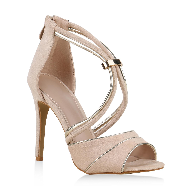 damen party sandaletten high heels stilettos elegante. Black Bedroom Furniture Sets. Home Design Ideas