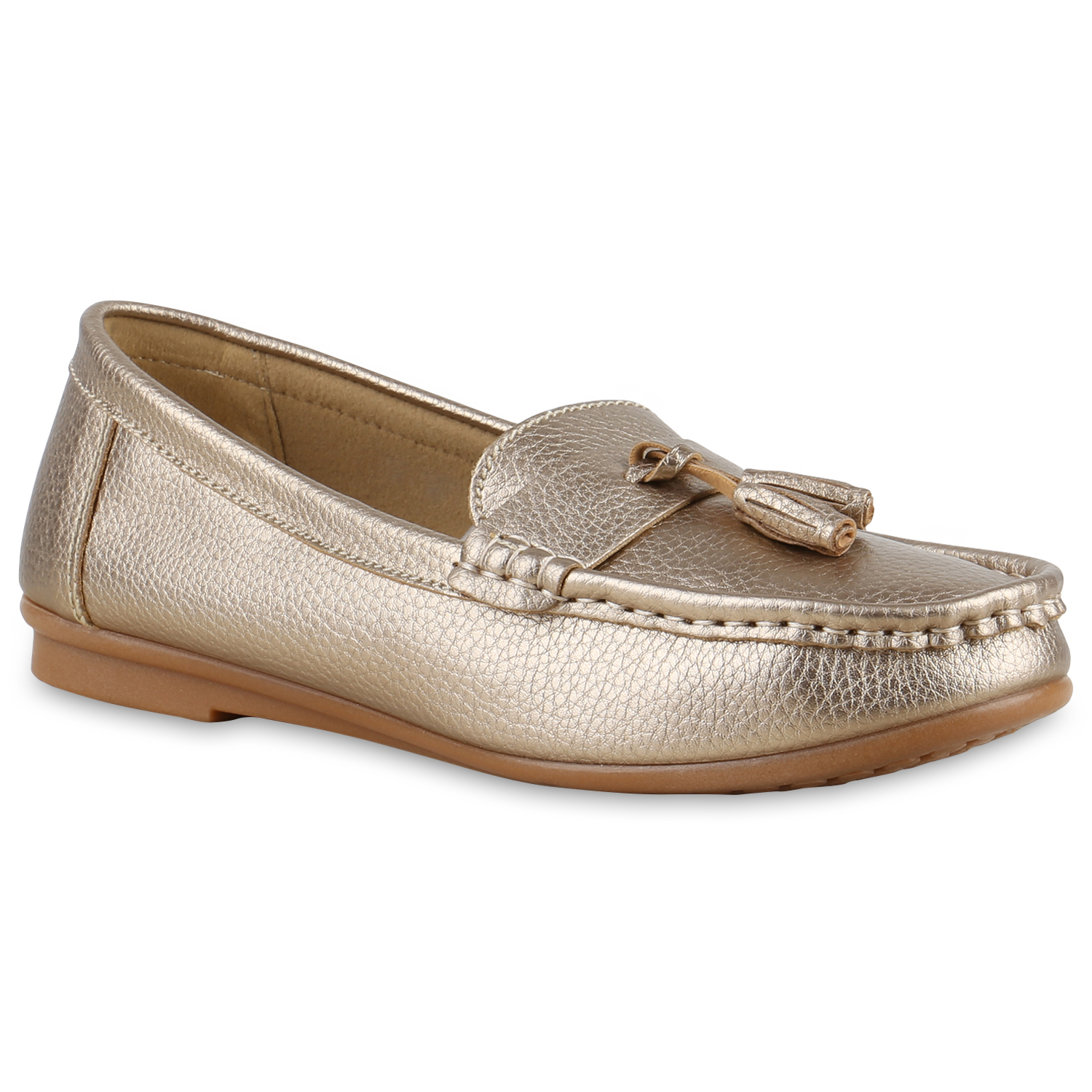 damen slipper tassel loafer quasten schuhe flats metallic 815111 ebay. Black Bedroom Furniture Sets. Home Design Ideas