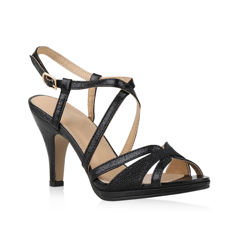 damen sandaletten party high heels riemchensandaletten. Black Bedroom Furniture Sets. Home Design Ideas